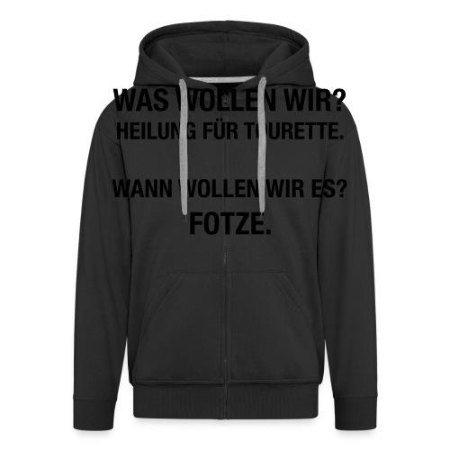 Tourette - Männer Premium Kapuzenjacke
