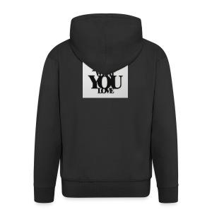 napis-na-sciane-do-what-you-love-czarny-jpg - Rozpinana bluza męska z kapturem Premium