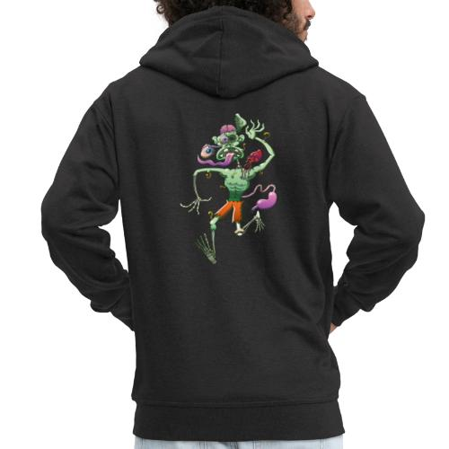 Zombie in Trouble Falling Apart - Men's Premium Hooded Jacket