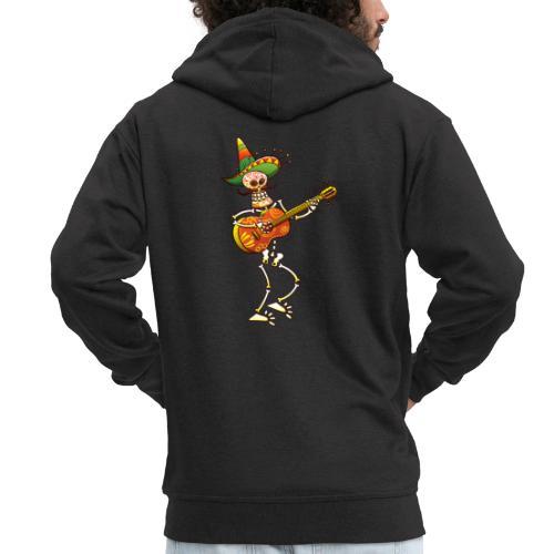 Mexican Skeleton Playing Guitar - Men's Premium Hooded Jacket