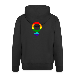 Gay pride regenboog vrouwen symbool - Mannenjack Premium met capuchon