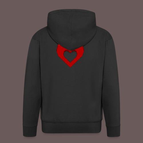 Heart Illusion - Herre premium hættejakke