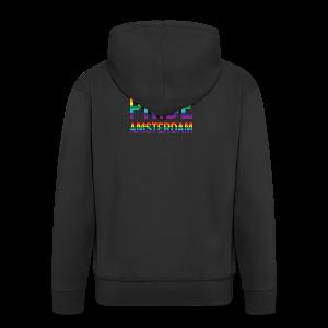 Pride Amsterdam in regenboog kleuren - Mannenjack Premium met capuchon