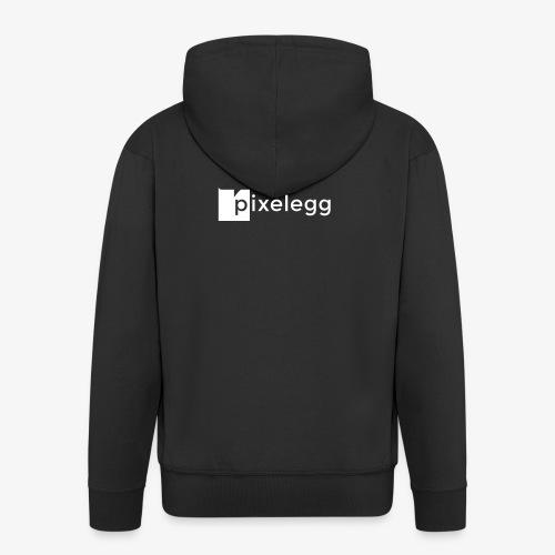 pixelegg Logo Weiss - einfärbbar!!! - Männer Premium Kapuzenjacke