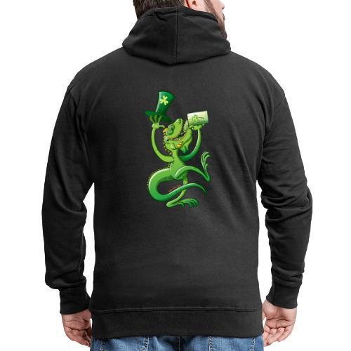 Saint Patrick's Day Iguana - Men's Premium Hooded Jacket
