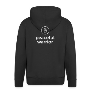 peaceful warrior - Männer Premium Kapuzenjacke