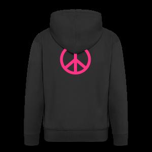 Gay pride peace symbool in roze kleur - Mannenjack Premium met capuchon