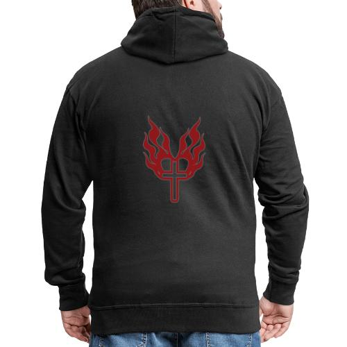 Cross and flaming hearts 02 - Men's Premium Hooded Jacket