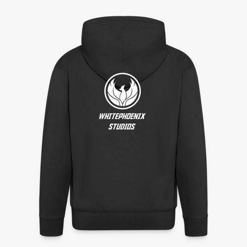 WHITE PHOENIX OFFICIAL LOGO - Men's Premium Hooded Jacket