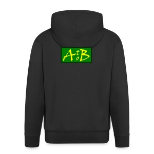 AtoB Logo green / yellow - Men's Premium Hooded Jacket