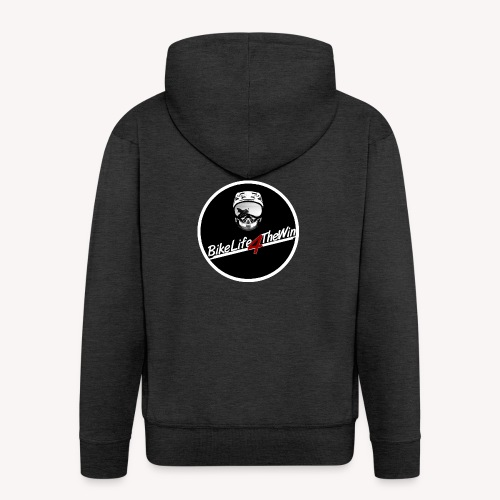 motorcycle Logo 2 - Men's Premium Hooded Jacket