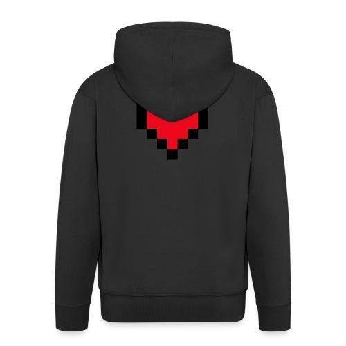 Pixel Heart - Mannenjack Premium met capuchon