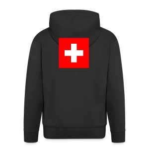Flag_of_Switzerland - Männer Premium Kapuzenjacke