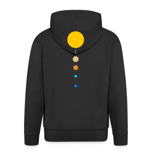Solar System - Men's Premium Hooded Jacket