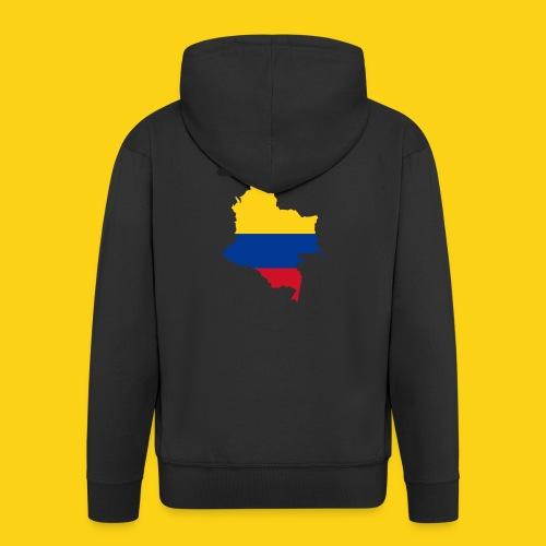 I love Colombia - Felpa con zip Premium da uomo