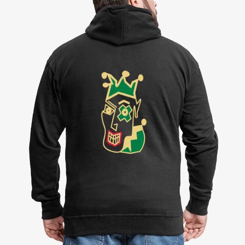 Crazy Jester by Brian Benson Men's Women's Premium - Men's Premium Hooded Jacket