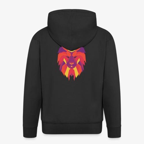 VIbrant Lion Head - Men's Premium Hooded Jacket