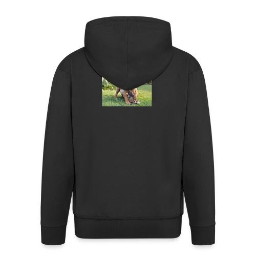 adorable puppies - Men's Premium Hooded Jacket