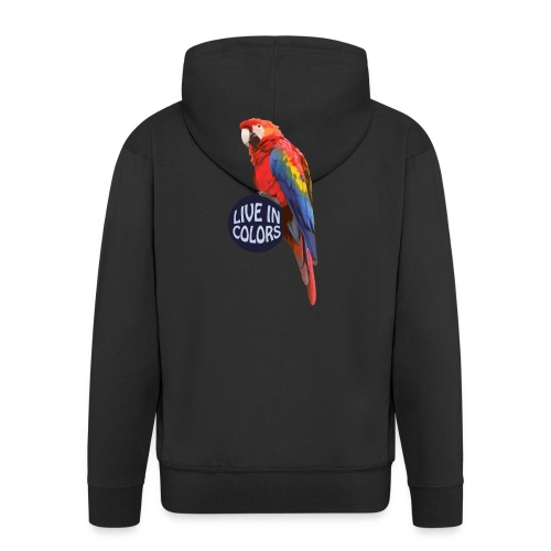 Parrot - Live in colors - Men's Premium Hooded Jacket