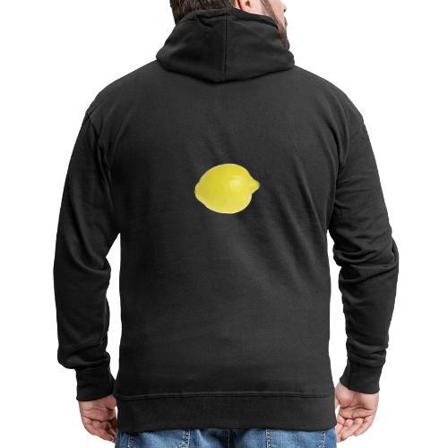 Zitrone - Männer Premium Kapuzenjacke