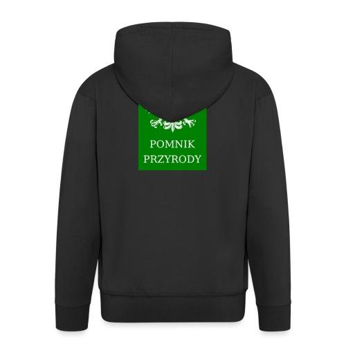 POL_Pomnik_Przyrody-svg - Rozpinana bluza męska z kapturem Premium