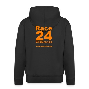Race24 Large Logo - Men's Premium Hooded Jacket