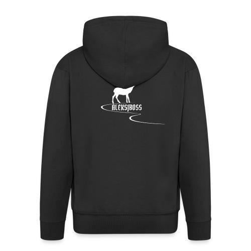 Collezione aleksjboss logo bianco - Felpa con zip Premium da uomo