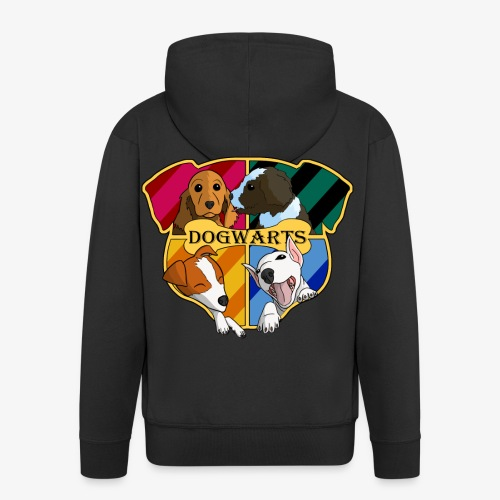 Dogwarts Logo - Men's Premium Hooded Jacket