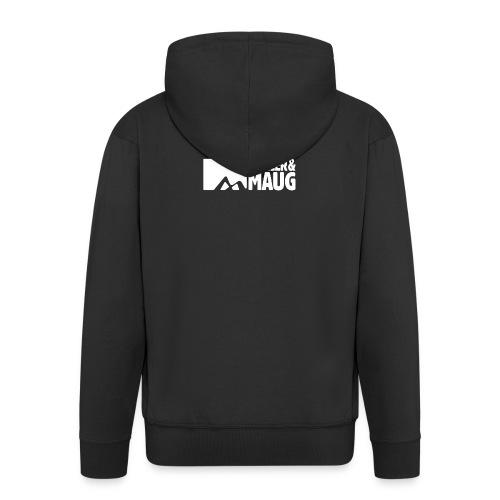 Priller&MAUG Logo WHT - Männer Premium Kapuzenjacke