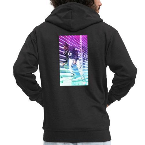 Neon HDR - Men's Premium Hooded Jacket