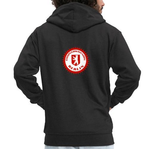 Logo in Rot Weiß - Männer Premium Kapuzenjacke