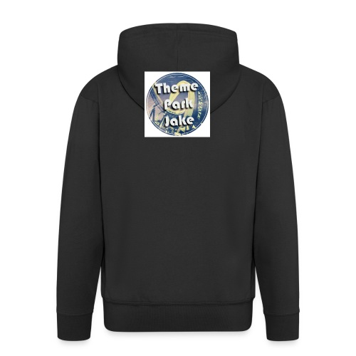 THEME PARK JAKE LOGO - Men's Premium Hooded Jacket