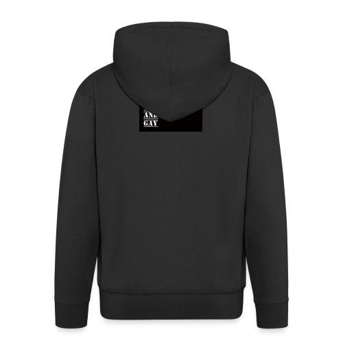 So weak and gay shirt - Men's Premium Hooded Jacket