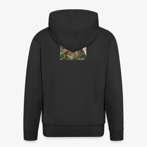 Burning weed, right? - Men's Premium Hooded Jacket