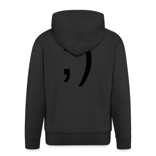 Wink Wink Smile - Men's Premium Hooded Jacket