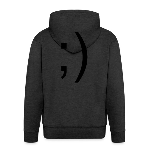 Wink Wink Smile - Men's Premium Hooded Jacket
