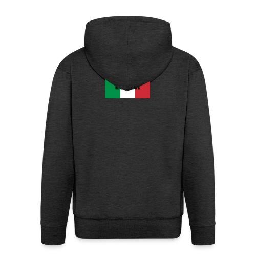 ITALIAN LOVER - Felpa con zip Premium da uomo