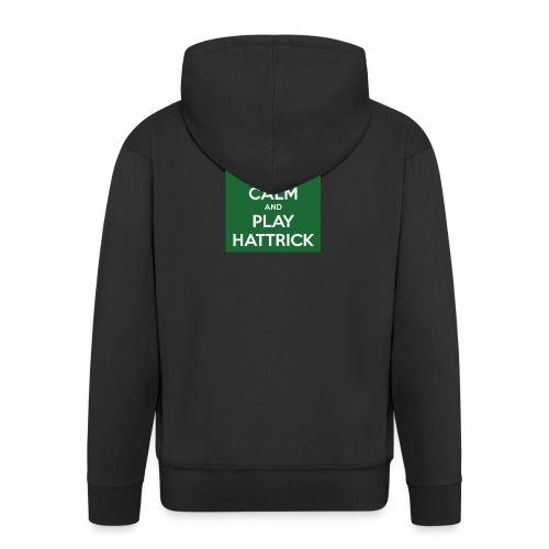 keep calm and play hattrick - Felpa con zip Premium da uomo