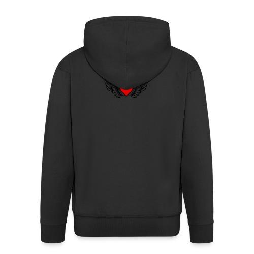 corazon-bonito-para-imprimir-png - Chaqueta con capucha premium hombre