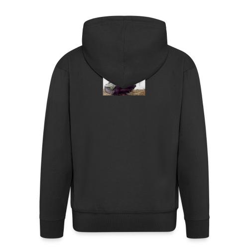 bwp2 - Rozpinana bluza męska z kapturem Premium