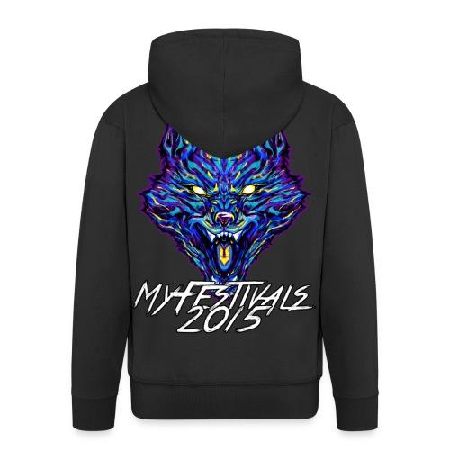 MyFestivals Blue Wolf 2015 - Männer Premium Kapuzenjacke
