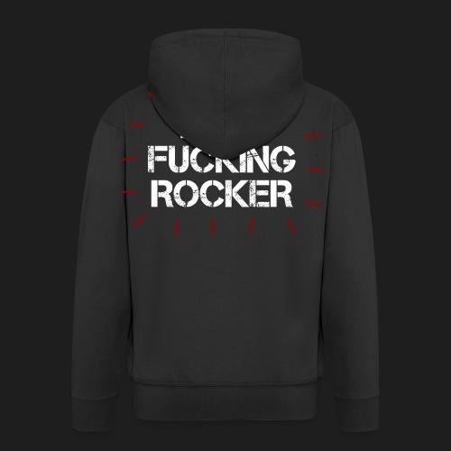 I'M A FUCKING ROCKER - Felpa con zip Premium da uomo