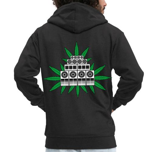 Ganja Sound System - Men's Premium Hooded Jacket