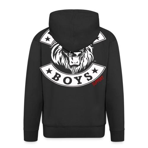 bachtalo boys logo weiss - Männer Premium Kapuzenjacke