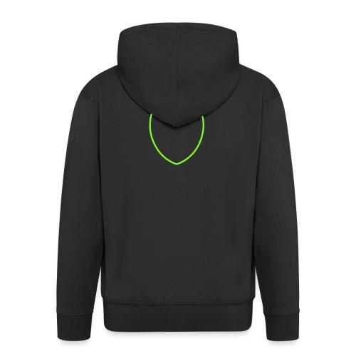 Dompe life green - Felpa con zip Premium da uomo