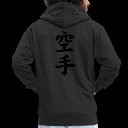 karate - Rozpinana bluza męska z kapturem Premium