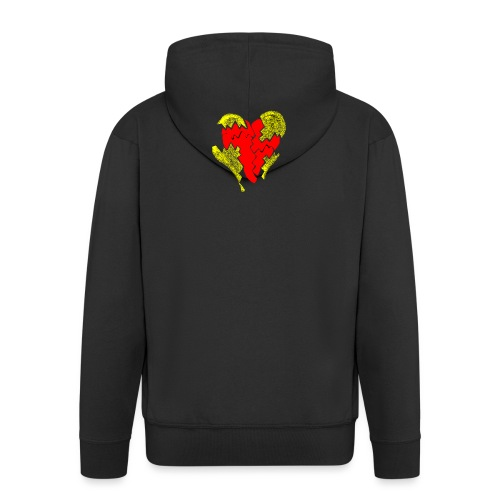 peeled heart (I saw) - Men's Premium Hooded Jacket