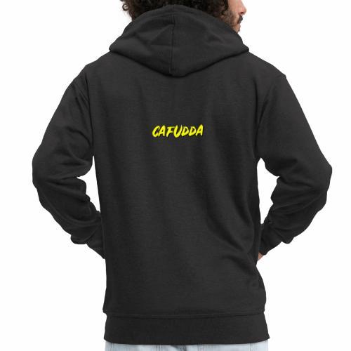 cafudda - Felpa con zip Premium da uomo