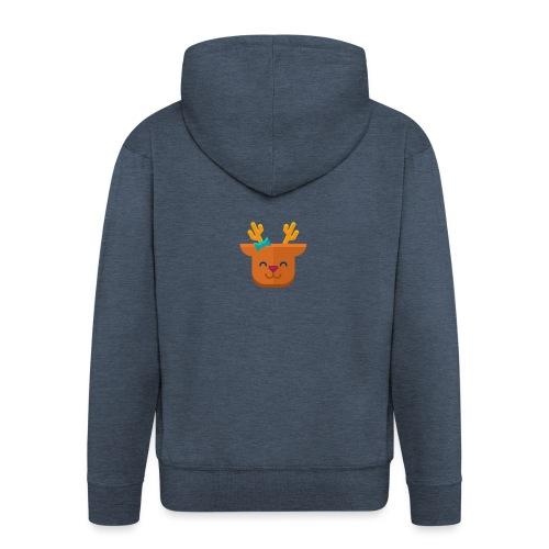 When Deers Smile by EmilyLife® - Men's Premium Hooded Jacket