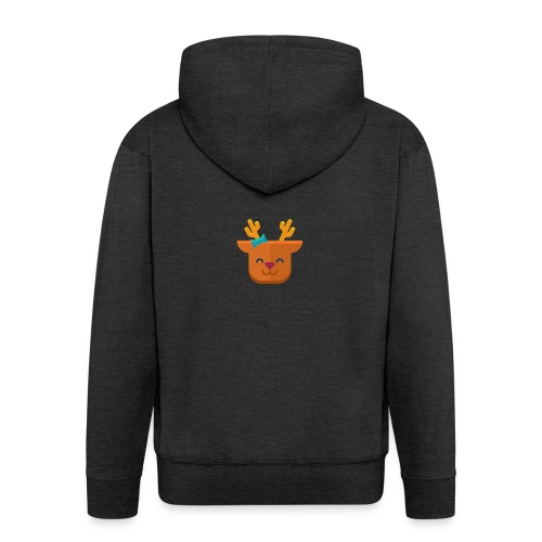 When Deers Smile by EmilyLife® - Men's Premium Hooded Jacket